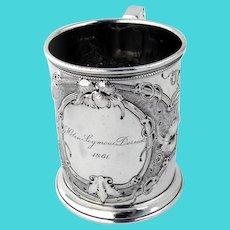 Cup Coin Silver Chased Vine Designs Gorham Silversmiths 1861