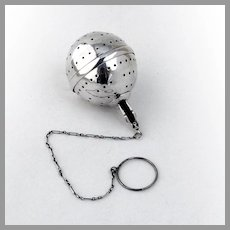 Tea Ball Figural Man Finial Sterling Silver