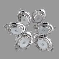 Cromwell 6 Nut Cups Sterling Silver Gorham Silversmiths 1900