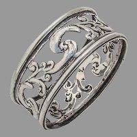 Openwork Napkin Ring Sterling Silver London 1897