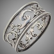 Openwork Napkin Ring Sterling Silver London 1897