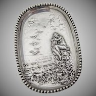 Pin Tray Siren on the Rocks Unger Brothers Sterling Silver 1900