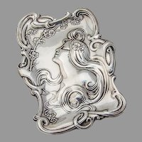 Art Nouveau Pin Tray Sterling Silver Unger Brothers