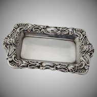 Egyptian Revival Pin Tray Sterling Silver 1890