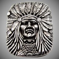Indian Chief Match Safe Sterling Silver Unger Brothers