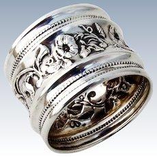 Napkin Ring Ivy Vine Decorations Sterling Silver