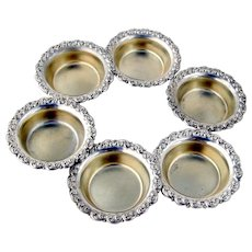 Individual Open Salt Dishes 7 Sterling Silver Shreve and Co San Francisco
