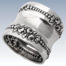 Napkin Ring Rose Point Sterling Silver Gorham Silversmiths