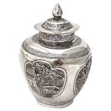 Chinese Small Urn 900 Silver 1900