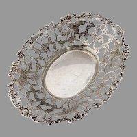 Ornate Serving Bowl 833 Standard Silver Holland 1900