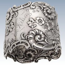 Ornate Napkin Ring Sterling Silver Whiting 1893
