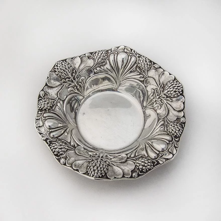Clover Small Serving Bowl Sterling Silver Gorham