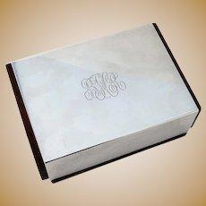 Rectangular Box Modern Design Sterling Silver Wood Gorham