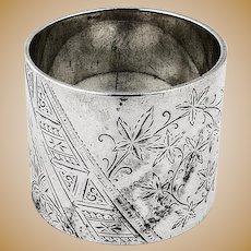 Aesthetic Napkin Ring Sterling Silver 1886