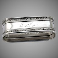 Etruscan Oval Napkin Ring Sterling Silver Gorham 1913