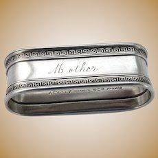 Etruscan Oval Napkin Ring Sterling Silver Gorham 1913