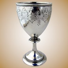 Goblet Coin Silver Aesthetic Style Gorham Silversmiths 1860