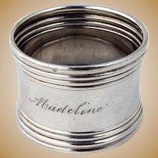 Napkin Ring Sterling Silver Gorham Silversmiths 1900 Mono Madeline