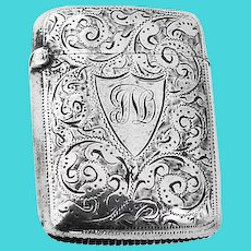 Match Safe Vesta Sterling Silver Birmingham Minshull and Latimer 1894
