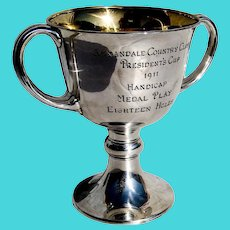 Tiffany and Co Presentation Trophy Cup Sterling Silver 1911