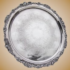 Tray For Punch Bowl Baroque Wallace Silverplate 242