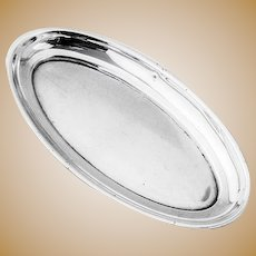 Oval Pin Tray Sterling Silver Birmingham Synyer Beddoes 1916