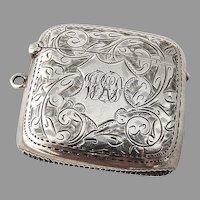 Vesta Match Safe Box Sterling Silver Birmingham William Henry Sparrow 1906
