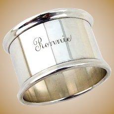 Napkin Ring Sterling Silver Gorham Mono Ronnie