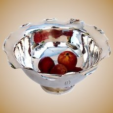 Large Punch Bowl Chinese Export Silver C. H and Co