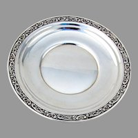 Rose Scroll Tidbit Tray Sterling Silver Gorham Silversmiths