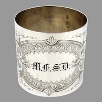Napkin Ring Aesthetic Style Sterling Silver Duhme Co 1870