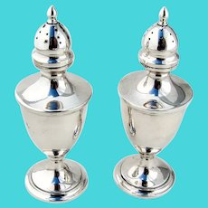 Calvert Salt and Pepper Shakers Old Maryland Plain Sterling Silver Kirk and Sons