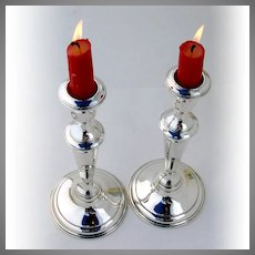 Candlesticks Pair Sterling Silver Reed and Barton
