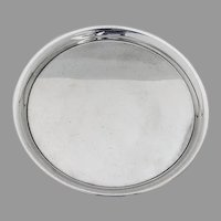 Round Tray Sterling Silver Frank Whiting