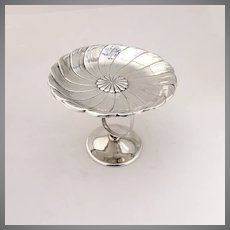 Flower Poppy Compote Serving Dish Sterling Silver International