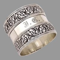 Tiffany Napkin Ring Foliate Ornate Designs Sterling Silver