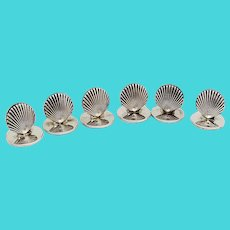 Tiffany Place Card Holders Set Clam Shell Form Sterling Silver