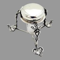 Art Nouveau Inkwell Stand Sterling Silver Charles Edwards 1903
