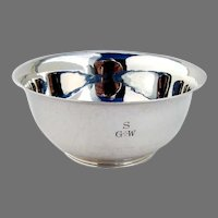 Arts and Crafts Bowl Sterling Silver FJR Gyllenberg and A.J Swanson Mass. 1900