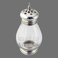Grated Cheese Shaker Sterling Silver Glass Frank Whiting