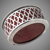 Pin Cushion Box Sterling Silver Open Work Design Frame 1900