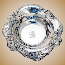 Ornate Serving Bowl Sterling Silver Dominick & Haff 1920