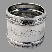 Napkin Ring Sterling Silver Gorham Silversmiths 1882