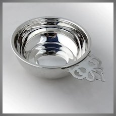 Large baby Porringer Sterling Silver Web
