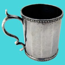 Spanish Colonial Large Mug Coin Silver 1820
