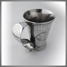 Spanish Colonial Mug Cup Extraordinary Coin Silver 1820-1840