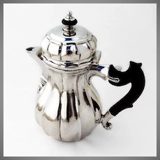 Antique Lidded Cream Pitcher Germany 800 Silver 1789