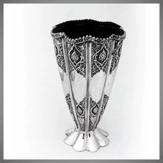 Flower Vase Ornate 84 Standard Silver Persian 1900-1930