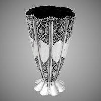 Flower Vase Ornate 84 Standard Silver Persian 1900-1930
