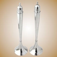 Tall Salt and Pepper Shakers Sterling Silver International